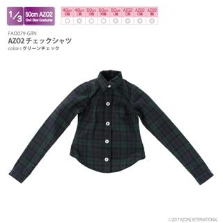 AZO2チェックシャツ