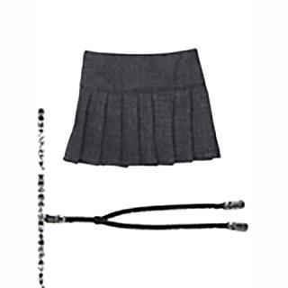 50サスペンダー付プリーツスカート
