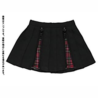 50パンクプリーツスカート