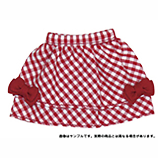 SnottyCat mini チェックリボンスカート