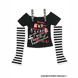 50パンクベルトTシャツ&アームウォーマーset