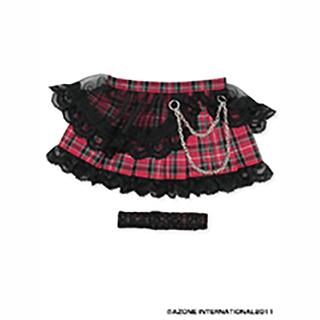 50パンクプリーツスカート&ガーターset