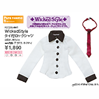 WickedStyle タイ付ロックシャツ