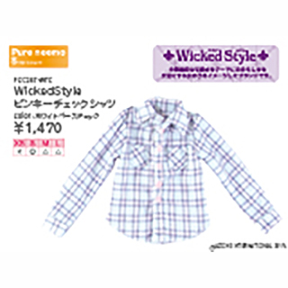 WickedStyle ピンキーチェックシャツ