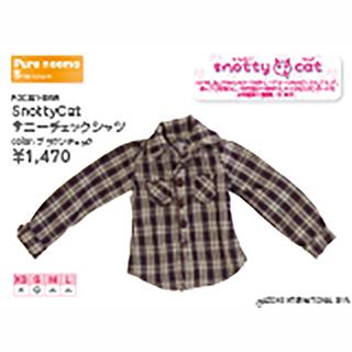 SnottyCat サニーチェックシャツ