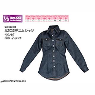 AZO2デニムシャツワンピ