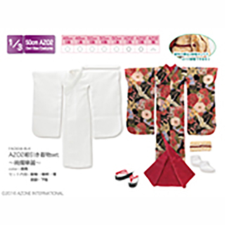 AZO2裾引き着物set ~絢爛華麗~