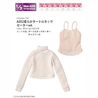 AZO2柔らかタートルネックセーターset